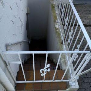 Kelleraufgangstreppe in Hannover als Problem der Kellerabdichtung von außen